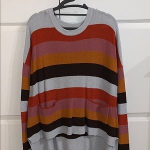 Vici Multicolored Sweater with Front Pockets